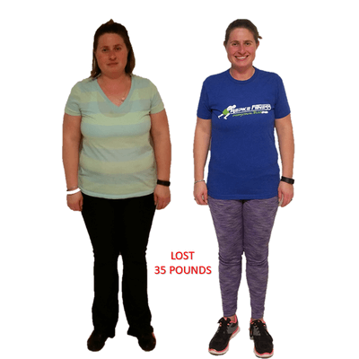 Jamie, Repke Fitness client who lost 35 pounds