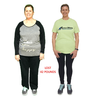 Terri, Repke Fitness client who lost 42 pounds