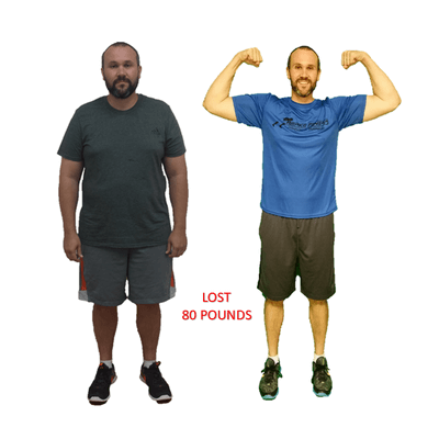 Tim, Repke Fitness client who lost 80 pounds