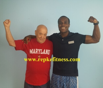 Mr. Roy, Repke Fitness Client only 78 years young