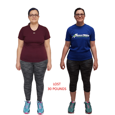 Ashley, Repke Fitness client who lost 30 pounds