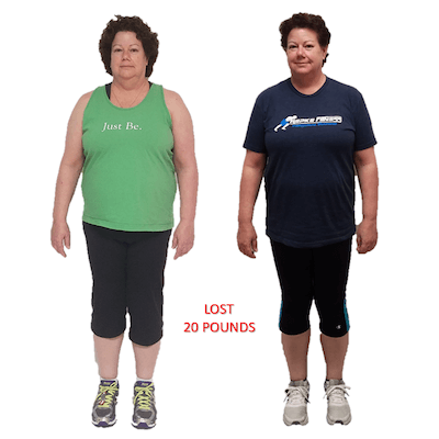 Dawn, Repke Fitness client who lost 20 pounds