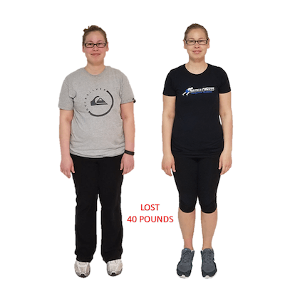 Mary Z, Repke Fitness client who lost 40 pounds