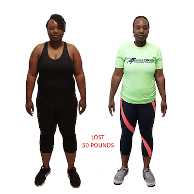 Nehdene, Repke Fitness client who lost 50 pounds